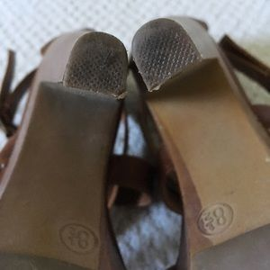 Mossimo Supply Co. Shoes - Brown cross strap heels